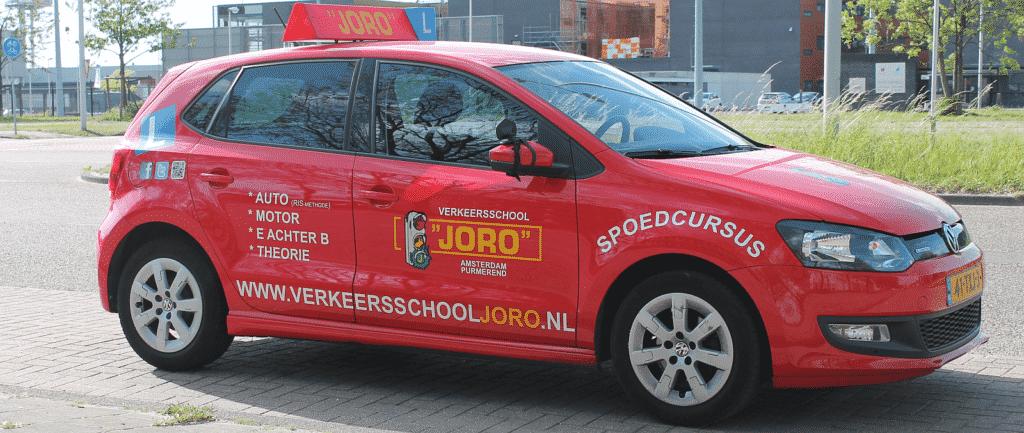 Rijles auto Verkeersschool JORO